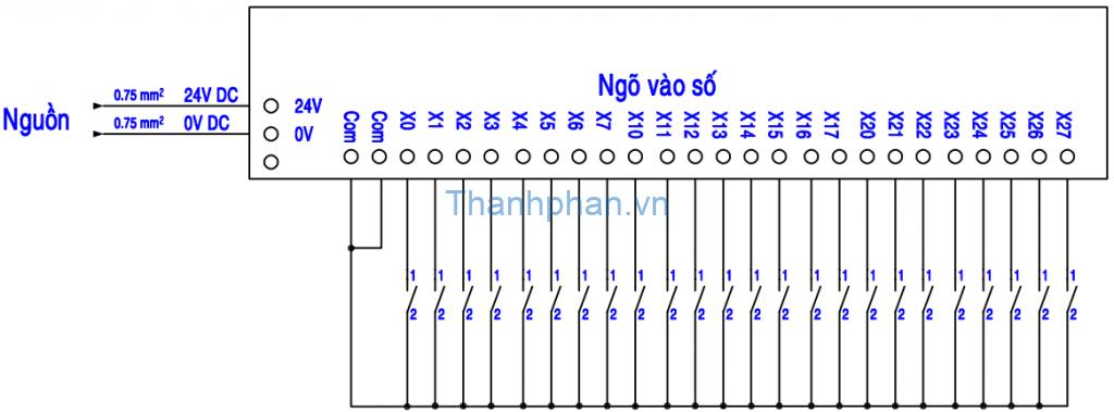 Bản vẽ kết nối ngõ vào số MM-40MR-12MT-700-FX-C