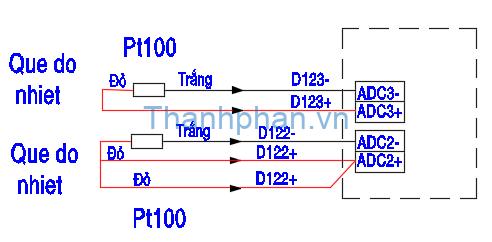 Bản vẽ điện kết nối Pt100 và YKHMI
