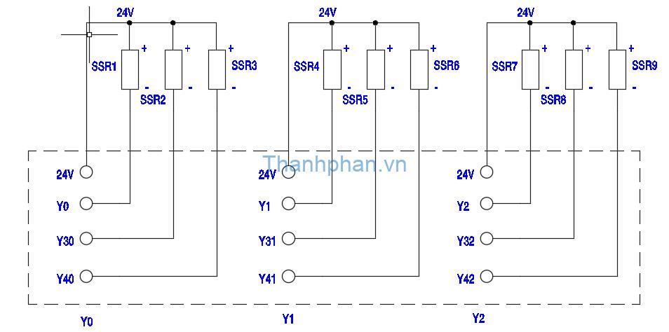 bản vẽ điện YKHMI ngõ ra transistor