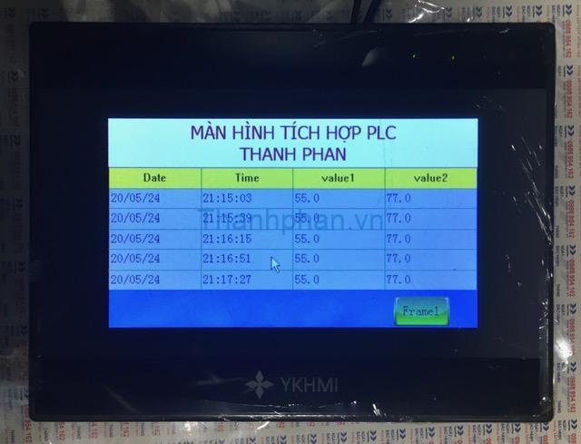 history data của màn hình ykhmi