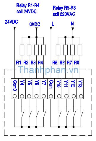 Ngõ ra relay MC-20MR-6MT-430A-FX-A