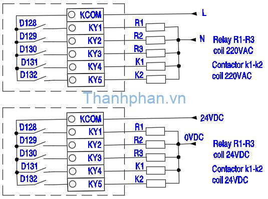 Sơ đồ kết nối relay điều khiển nhiệt