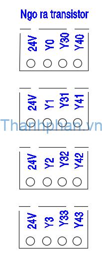 Bố trí ngõ ra transistor