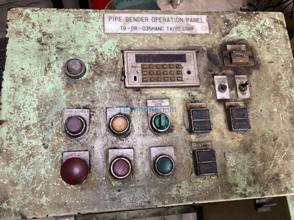 bảng điều khiển máy Taiyo cũ