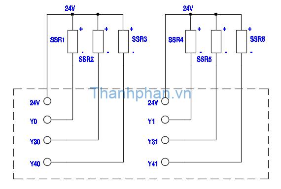 Sơ đồ kết nối SSR và PLC
